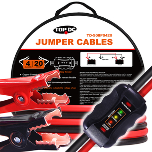 4GA x 20Ft CPA Battery Jumper Cables with Tester