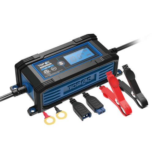 TOPAC 2/4A 6/12V Automatic Car Battery Charger and Maintainer
