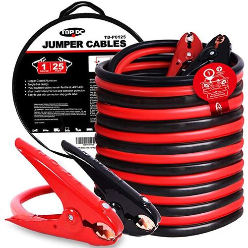 1GA x 25Ft CPA Battery Jumper Cables