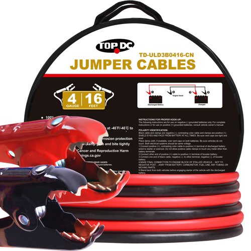 4GA x 16Ft 100% Copper Battery Jumper Cables