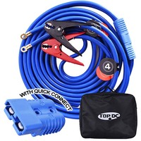 1GA x 25Ft CPA Battery Jumper Cables with Quick Plug
