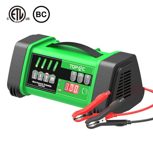 TOPAC 2/6/10A 12/24V Smart Car Battery Charger