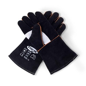 TOPDC 14 Inches Welding Gloves Black-Gray